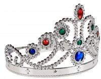 Корона карнавальная Царевна серебристая