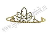 Диадема принцессы золотая