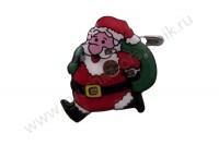 Значок светящийся Санта с мешком