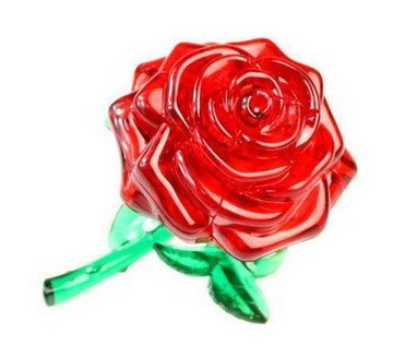3D Crystal Puzzle Rose (Роза)