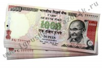 Билет Банка Приколов 10000 индийских рупий