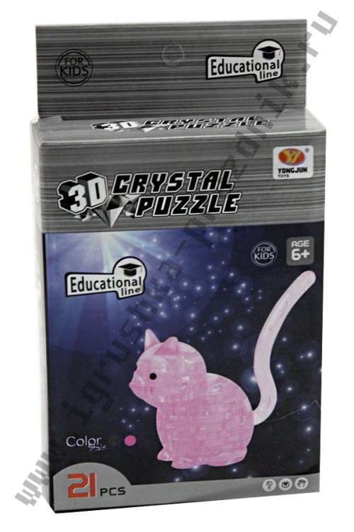 3D Crystal Puzzle Котик
